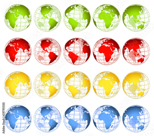 Globes in 4 different attractive colours