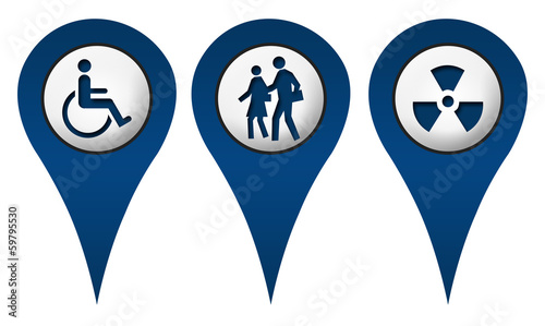 Handicap School Radition Location Icons