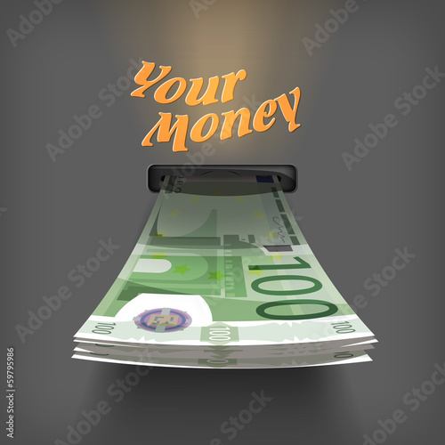 Euro money. Vector Format