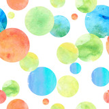 Watercolor Circle Seamless Background