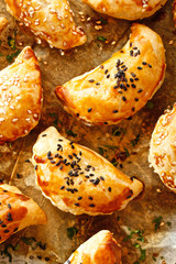 Mushroom pasties with  puff pastry