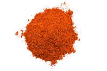 Kashmiri Chili Powder Pile On White Background