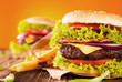 Fresh hamburgers