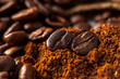 close up picture of coffee beans