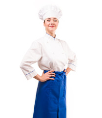 young chef. positive girl