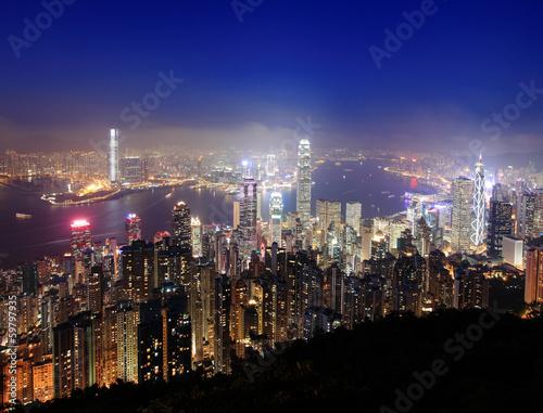 Foto op Canvas Europa Hong Kong night view