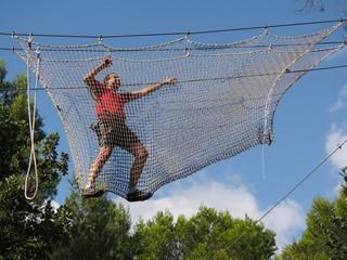 Filet de parcours acrobatique