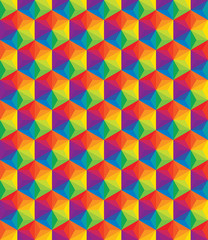 Vector colorful pattern of geometric shapes