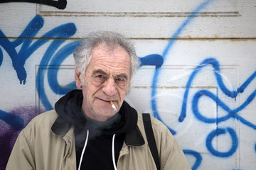 urban italian old man