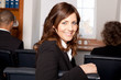 canvas print picture - Geschäftfrau in einem Seminar