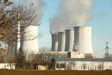 Nuclear power plant landscape