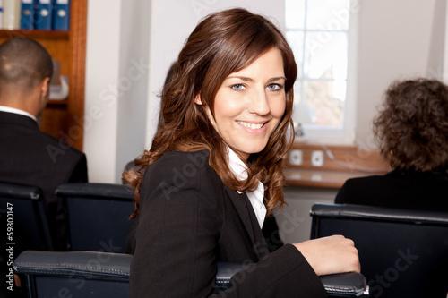 canvas print picture Geschäftfrau in einem Seminar