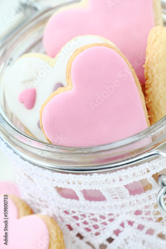 Delicious homemade heat shaped Valentine's cookies