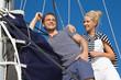 Liebespaar auf Hochzeitsreise - Segler auf einer Yacht