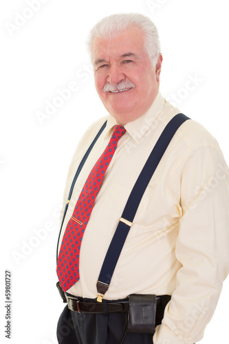 Confident relaxed senior man