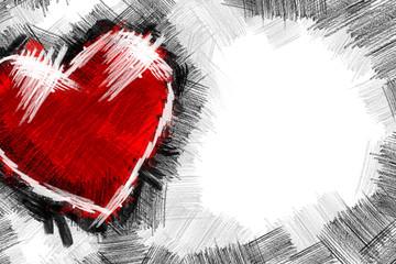 Heart pancil 2