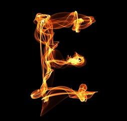 letter in fire illustration