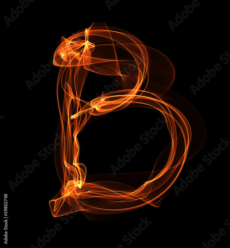 letter in fire illustration