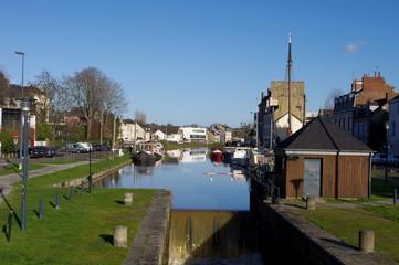 L'écluse du canal St Martin à Rennes