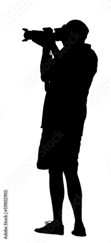 Silhouette of Standing Photographer
