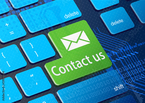 Support concept - Contact us button