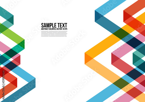 Abstract Colorful Triangle Pattern.  Background