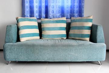 sofa and pillows furniture
