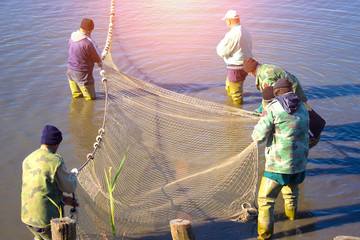 Pulling a Fishing Net
