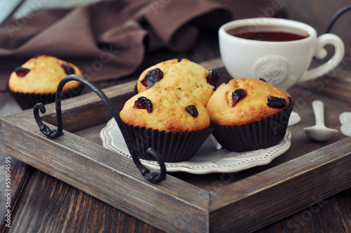 Muffins with dried cranberry