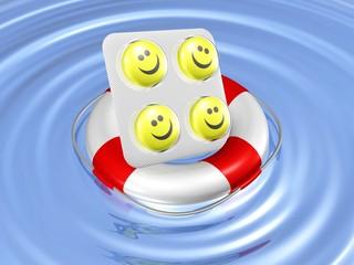 Stimmungsaufheller-Pillen in Seenot