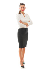 Smiling Business Woman full length