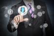 Social network futuristic touchscreen