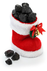 christmas stocking full of coal