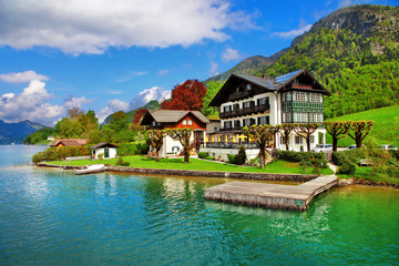 beautiful lakes of Austria. st.Wolfgang