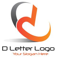 D Letted Logo Orange