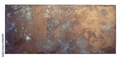 Leinwandbild Motiv Metal plate