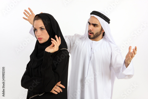 Lack Of Understanding Between An Arab Couple