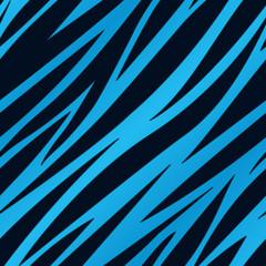 Blue Zebra Print