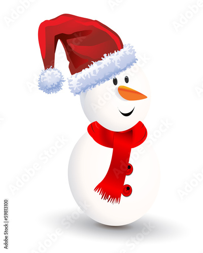 Christmas-Snowman Cartoon