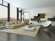 Contemporary modern living room interior
