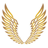 Ornament Golden Wing