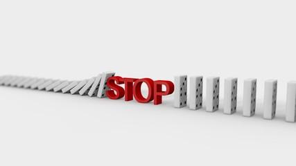 Dominosteine Stop