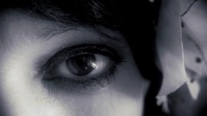 Eye macro woman noir