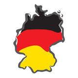 abstract concept of map and flag of Germany