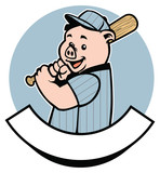 pig baseball player
