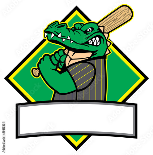 crocodille baseball player
