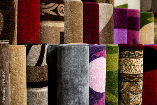 Color Textured Carpet Surface Detail Specific View - 59815504
