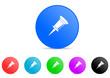 pin icon vector set