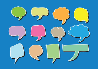 Blank empty speech bubbles
