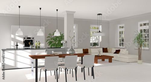 Pin Wohnzimmer Esszimmer Und Küche In Einem Raum 98 on Pinterest